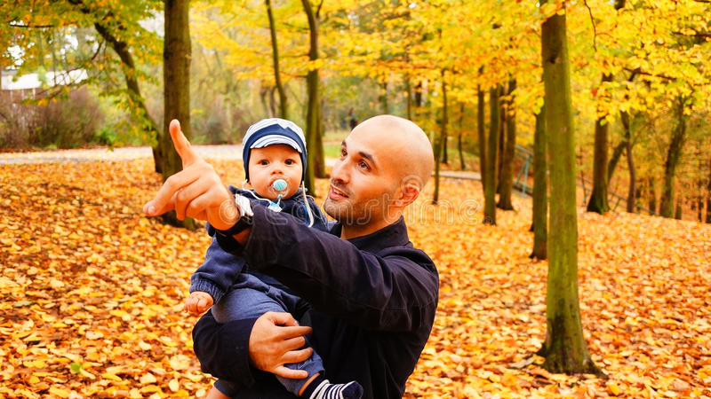 Man and baby royalty free stock photography