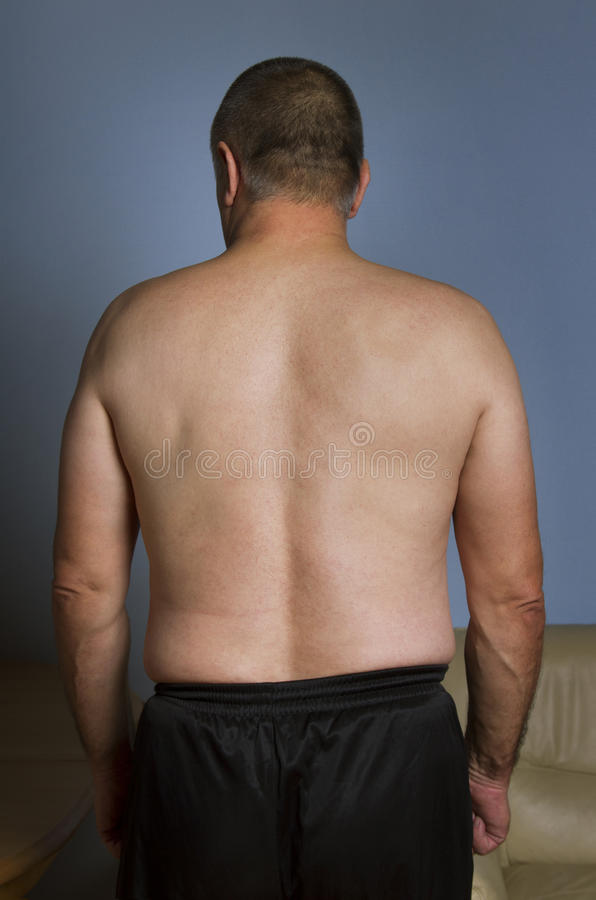 Man from the back. stock photo