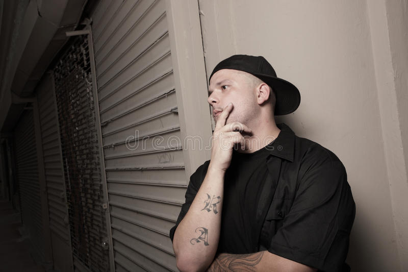 Download Man With A Backwards Hat Royalty Free Stock Image - Image: 10380656