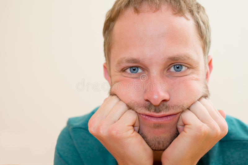 Man In A Bad Mood Stock Photo