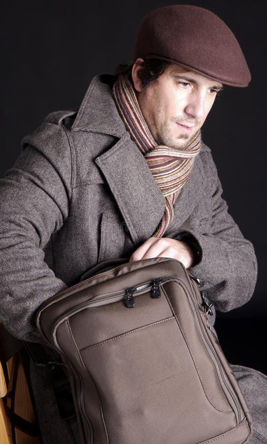 Man and bag