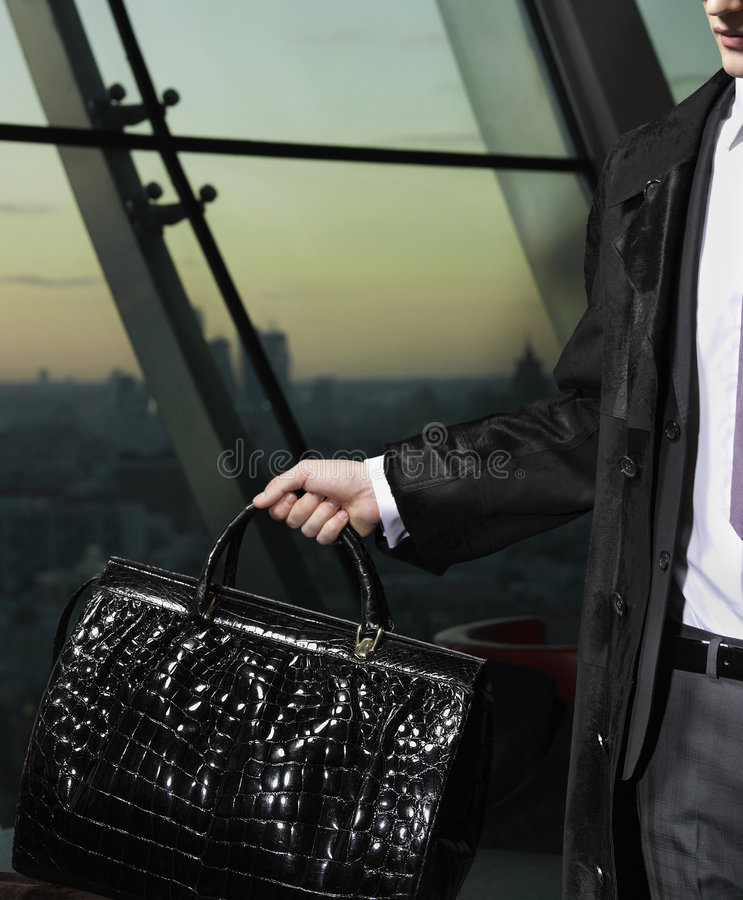 Man with bag stock image