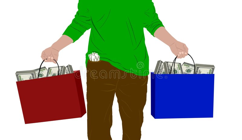 Man With Bags Of Money Royalty Free Stock Photography