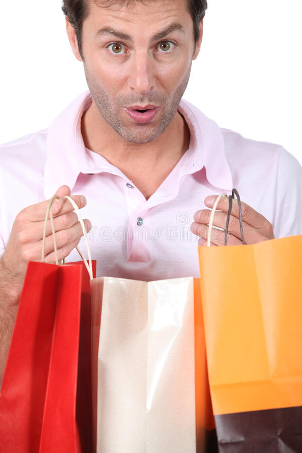 Man with Bags stock photo