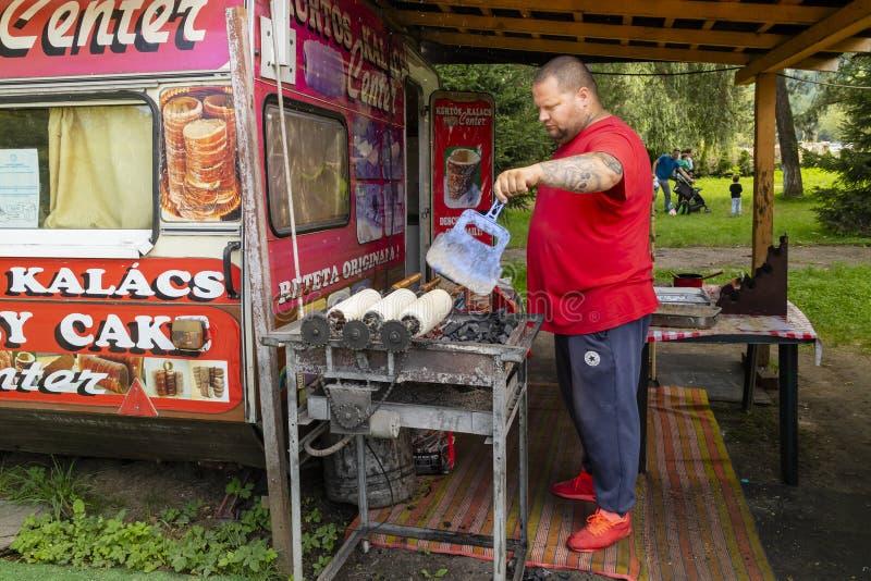 A Man Baking Kiortosh stock image