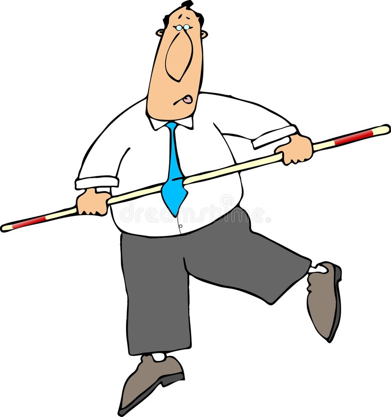 Man Balancing royalty free illustration