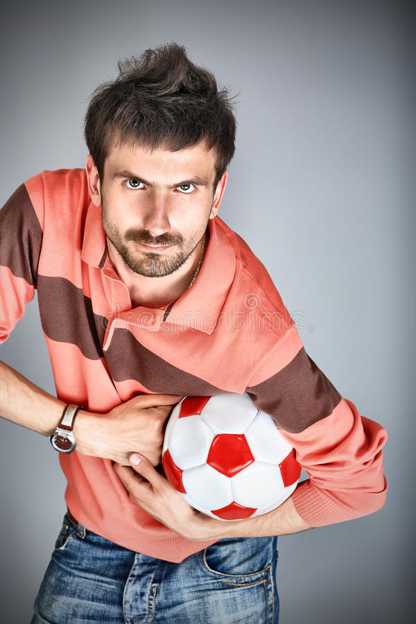 Man with a ball stock photo