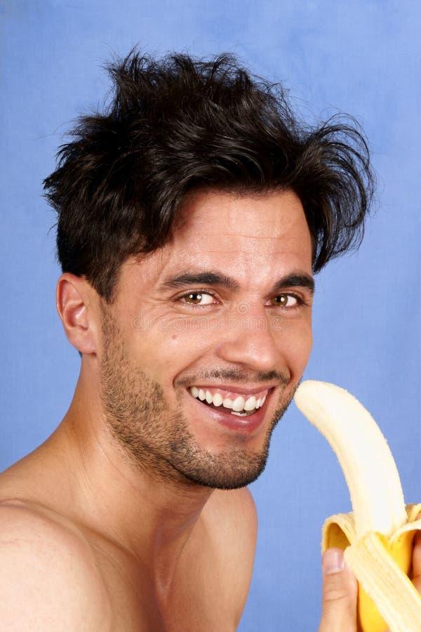 Man With Banana Royalty Free Stock Photography
