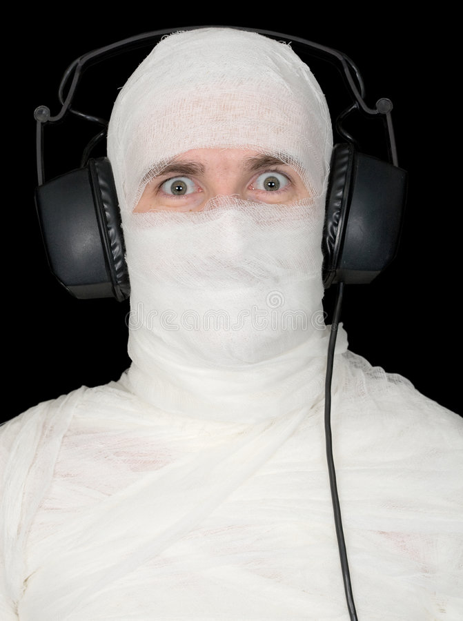 Download Man In Bandage With Ear-phones Royalty Free Stock Photo - Image: 8348655