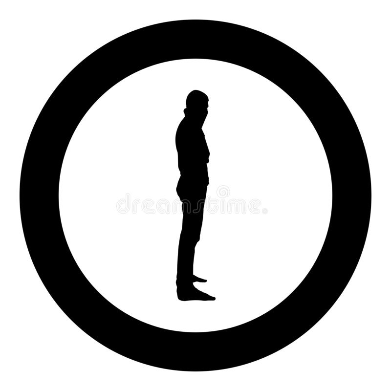Man with bandana on his face that hides his identity Concept of rebellion Concept protest icon black color vector in circle round. Illustration flat style stock illustration