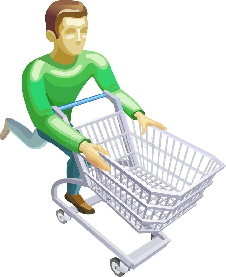Download A man with a basket stock vector. Illustration of sale - 23114059