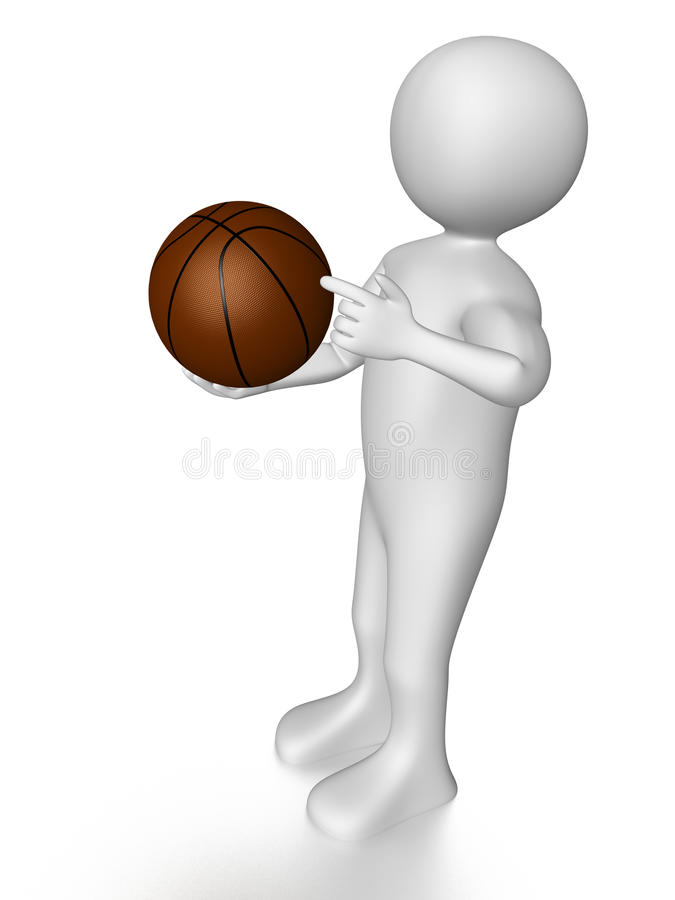 Download Man with basket ball stock illustration. Image of arms - 15637097