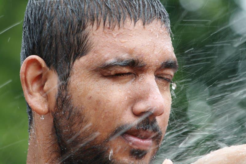Download Man bathing stock image. Image of indian, human, closeup - 15222113