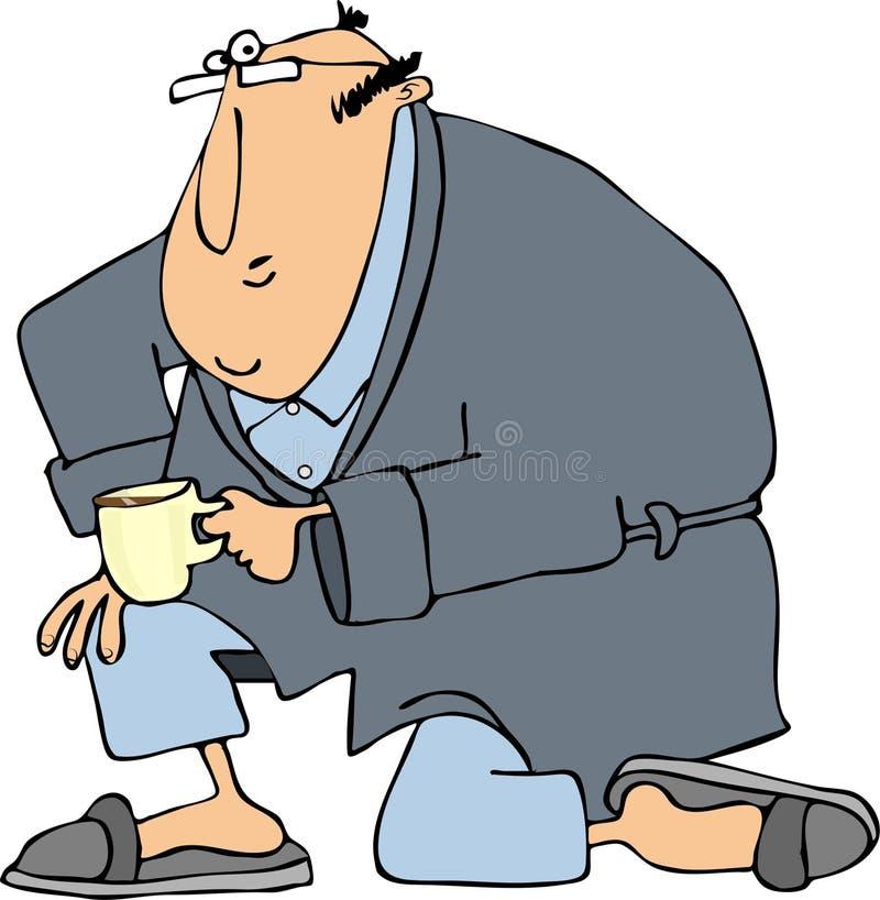 Download Man In Bathrobe On One Knee Stock Illustration - Image: 39131864
