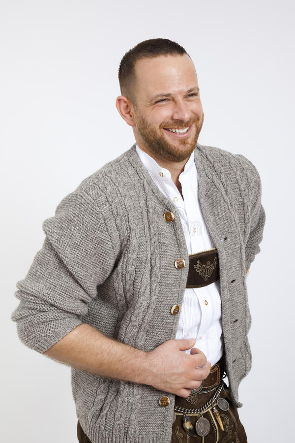 Man in bavarian traditional outfit for Oktoberfest. An image of a man in bavarian traditional outfit for Oktoberfest royalty free stock photos