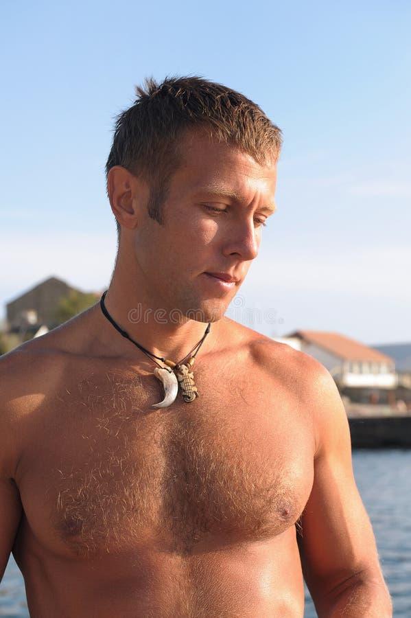 Download Man on beach stock image. Image of breathing, fresh, beautiful - 10746055