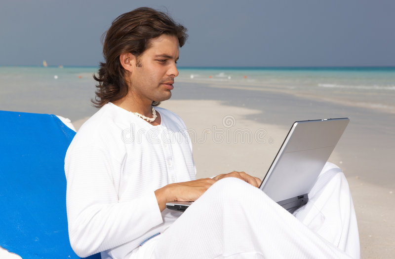 Download Man on the Beach stock photo. Image of travel, attractive - 5389090