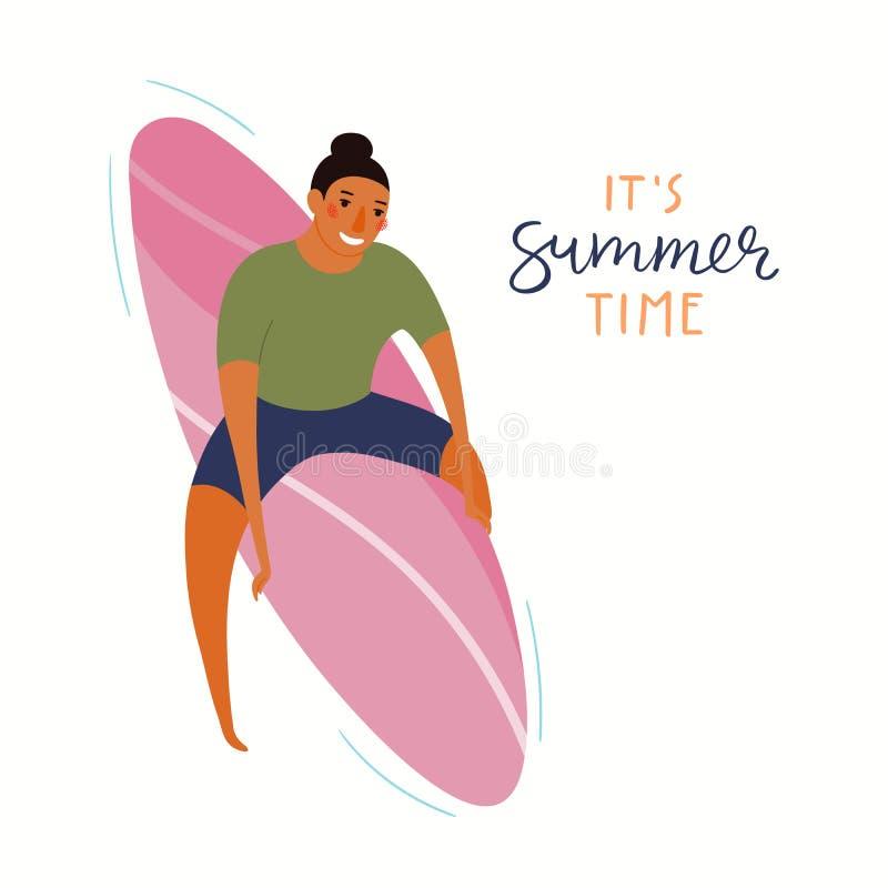 Man on the beach illustration vector illustration