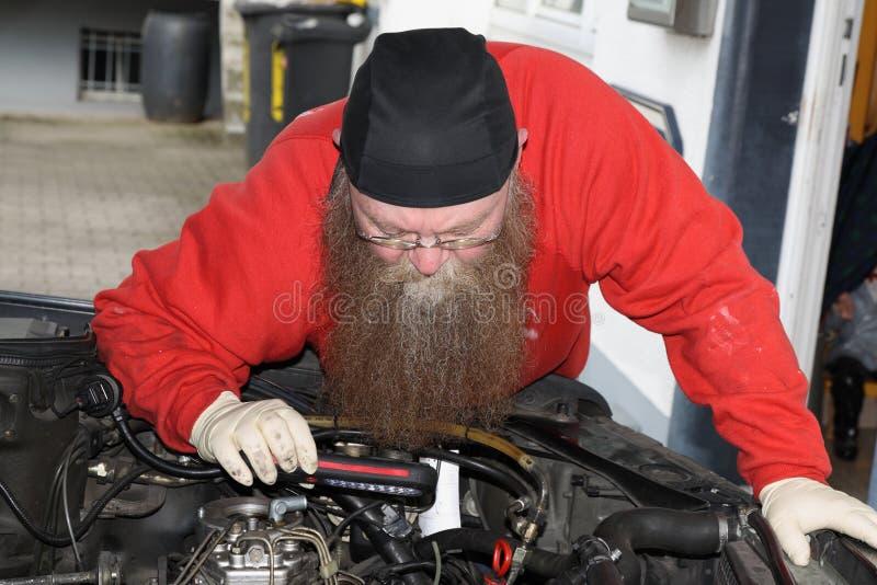 Man with beard. Man with a with a long beard royalty free stock photos