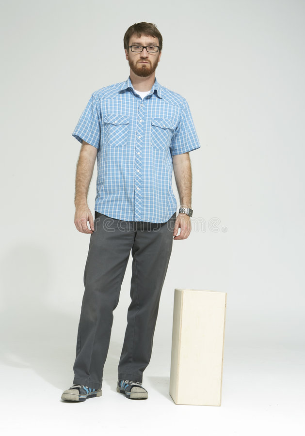 Download Man With Beard Standing In Studio 01 Stock Image - Image: 1914781
