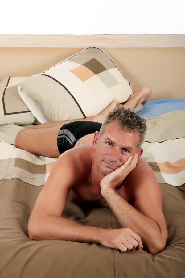 Man Bedroom Grooming Royalty Free Stock Photo