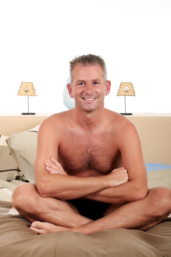 Download Man bedroom grooming stock photo. Image of underwear - 11555786