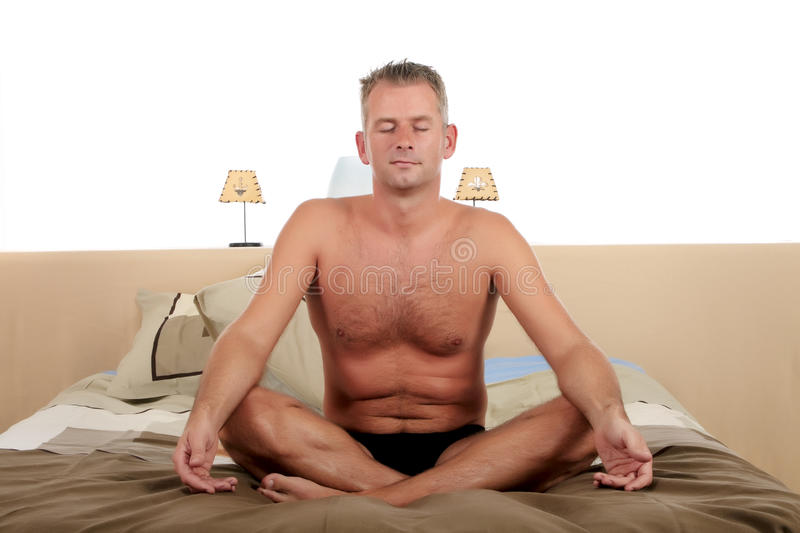 Download Man Bedroom Yoga Stock Photos - Image: 11555803