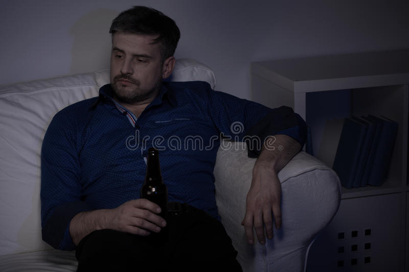 Man and beer royalty free stock image