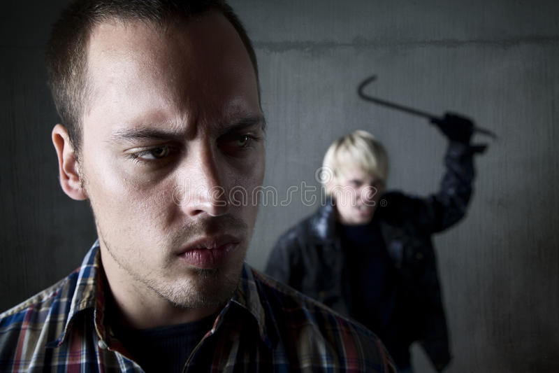 Man Being Stalked By Criminal Royalty Free Stock Image