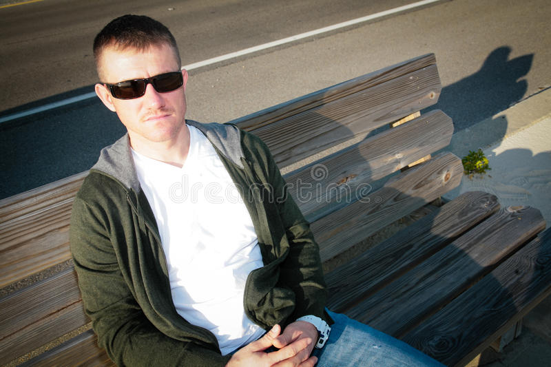 Download A Man on a Bench stock image. Image of adult, caucasian - 22743795