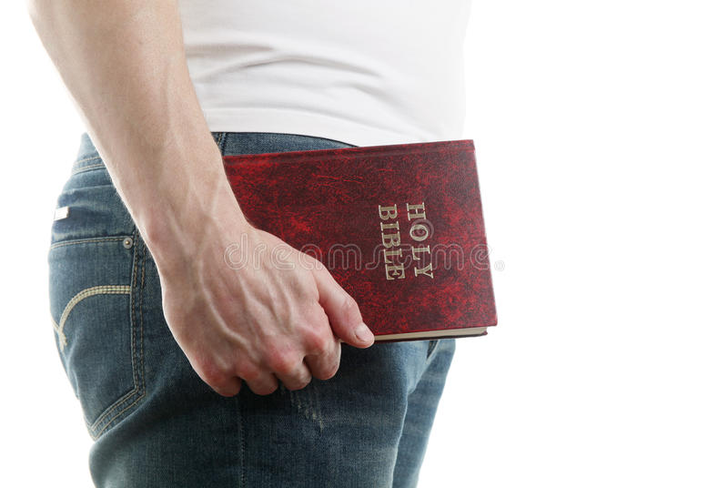Man With The Bible Stock Photography