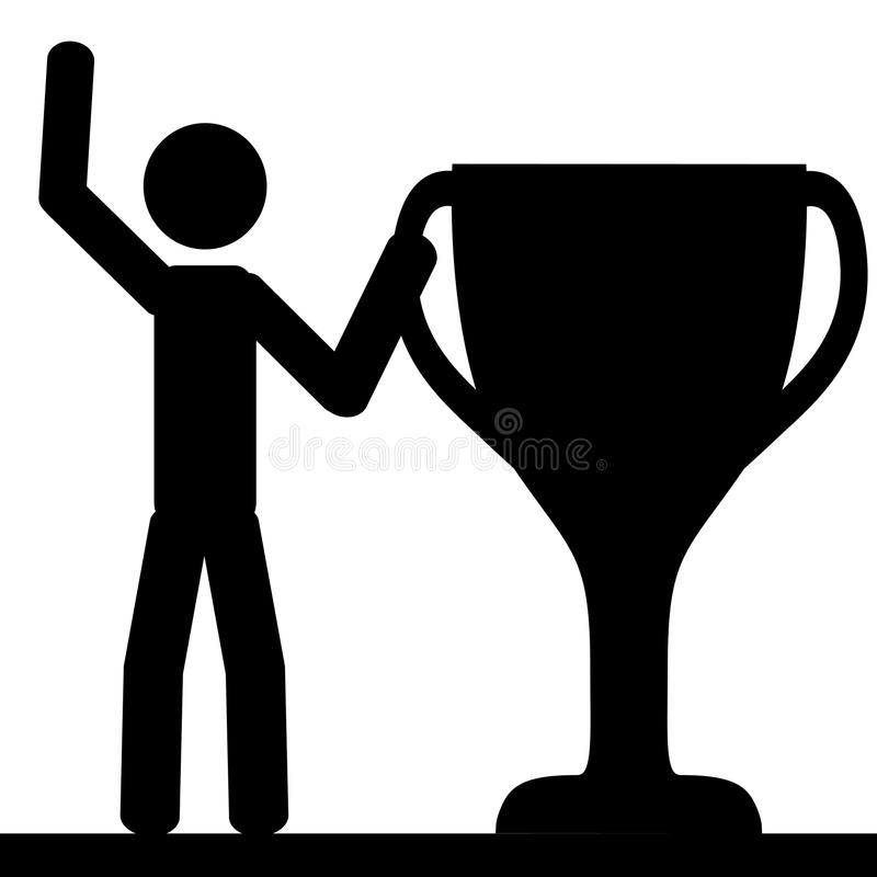Man with big cup vector illustration