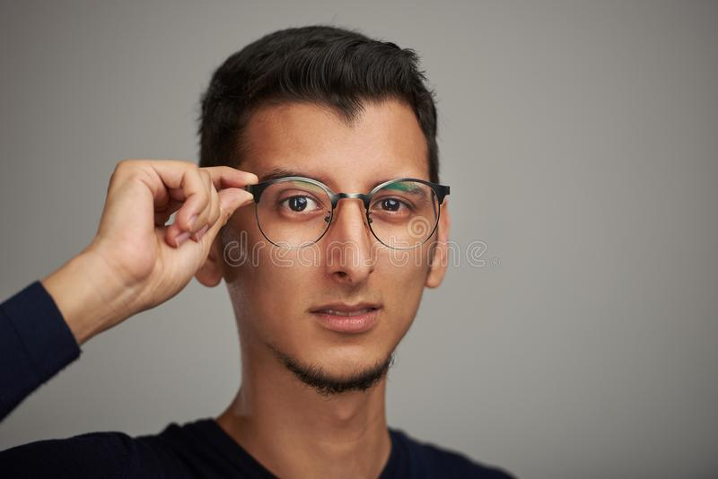 Man with big eyes royalty free stock images