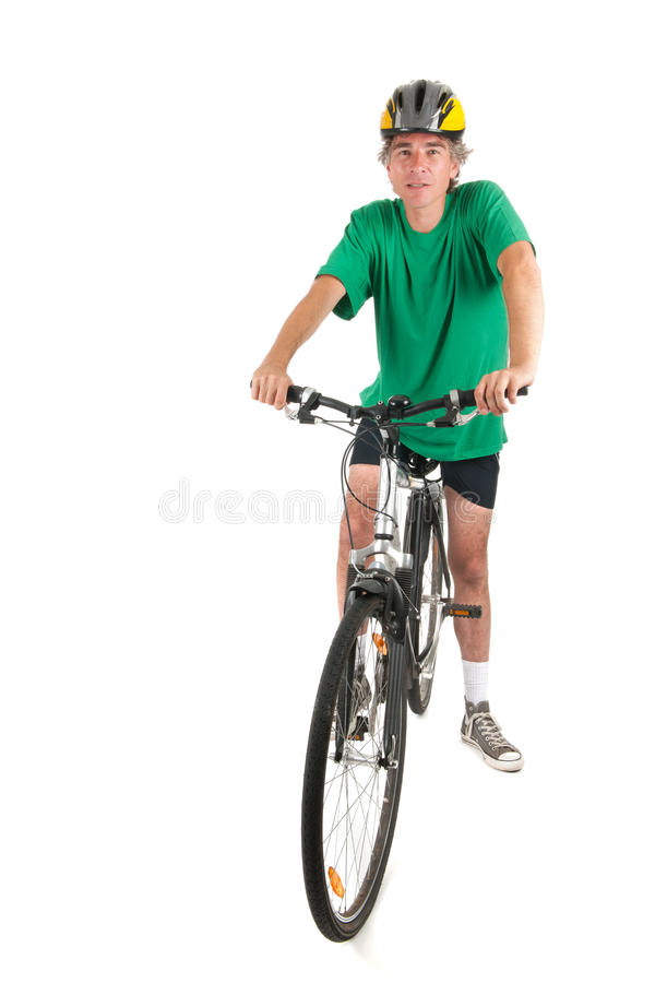 Download Man on bike in studio stock photo. Image of mountain - 28885156