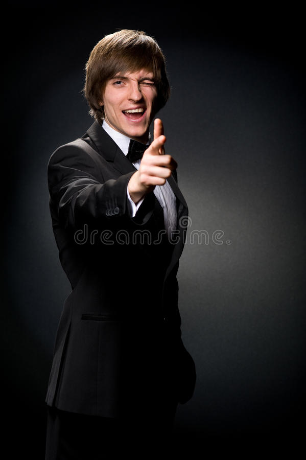 Download The man in black stock image. Image of cheerful, mixed - 26804901
