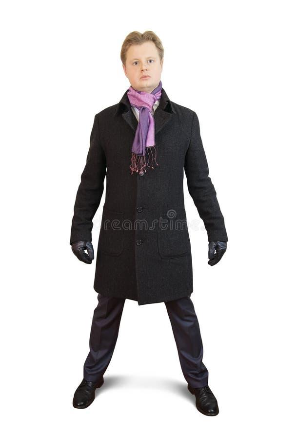 Man In Black Coat Royalty Free Stock Image