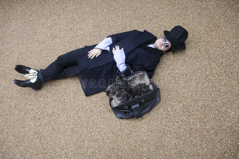 Download Man in black stock photo. Image of antique, crazy, apparel - 33418780