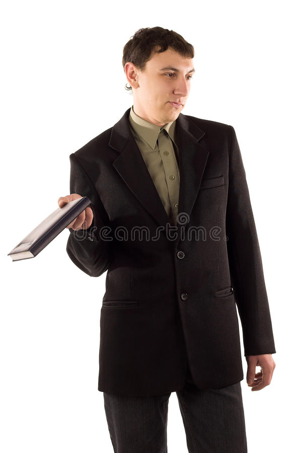 Man in black suit royalty free stock images