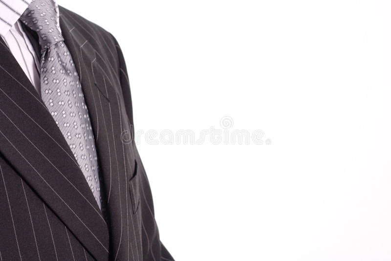 Man in black suit royalty free stock image
