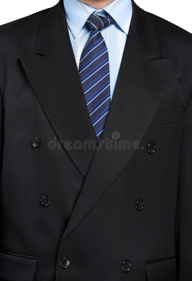 A man in a black suit closeup royalty free stock photos
