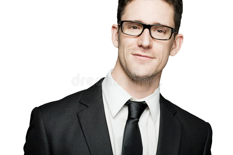Download Man In Black Suit Expressing Positivity. Isolated. Stock Photo - Image: 22225016