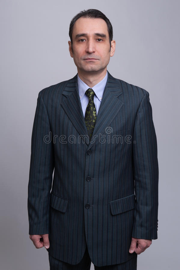 Man in Black Suit royalty free stock photography