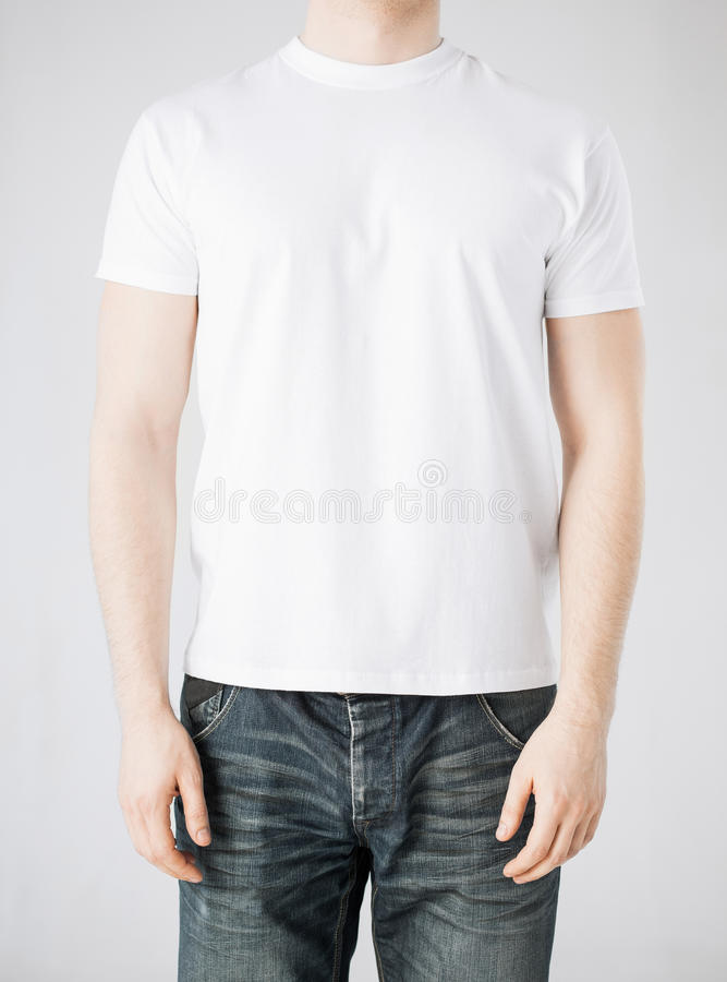 Download Man in blank t-shirt stock photo. Image of casual, concept - 38098590