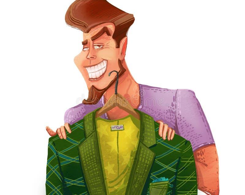 Man with blazer vector illustration