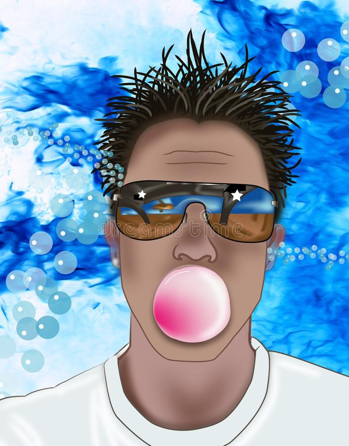 man blowing a Bubble royalty free stock images