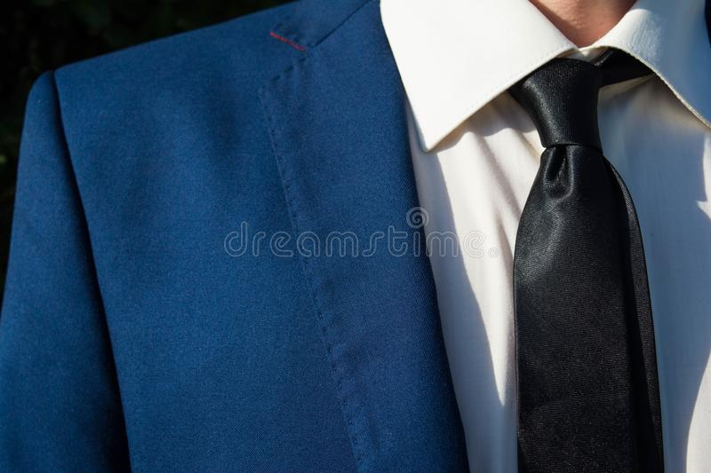 Man in blue stylish suit royalty free stock photos