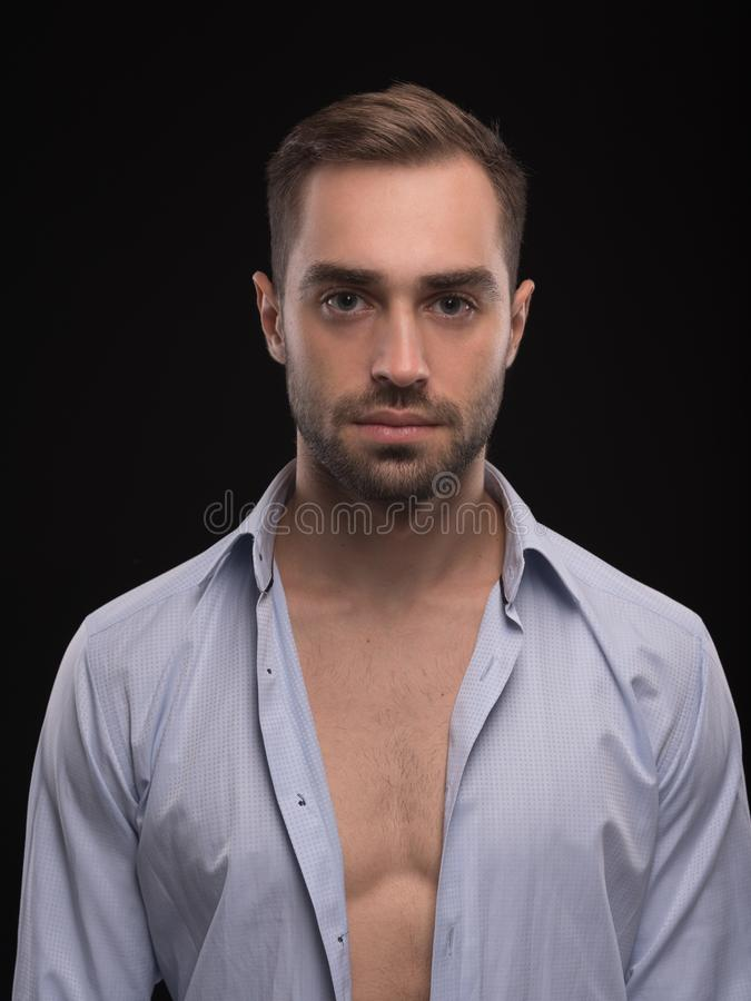 Man Body. Portrait Of Handsome Young Guy stock images