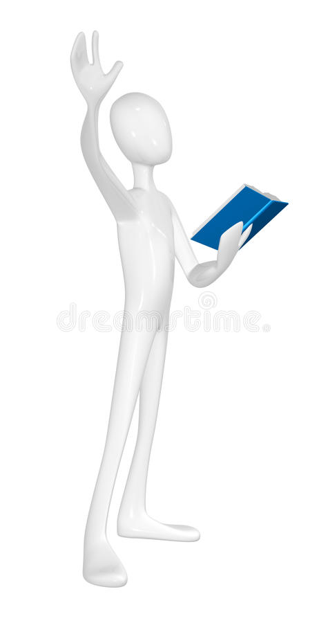 Download Man With Book. Stock Images - Image: 24098064
