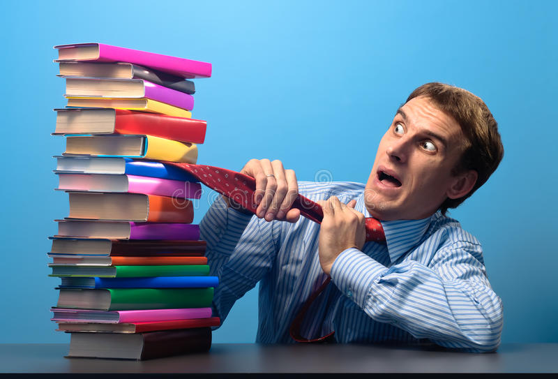 Download Man And Books Stock Image - Image: 16635391