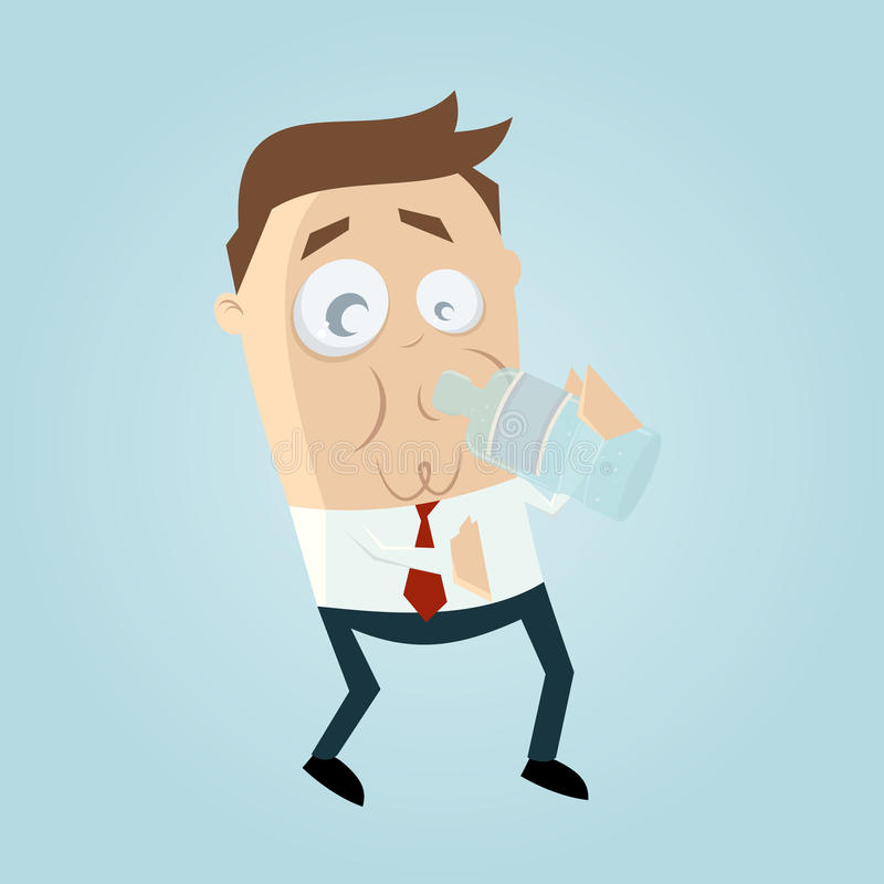 man with a bottle of water vector illustration